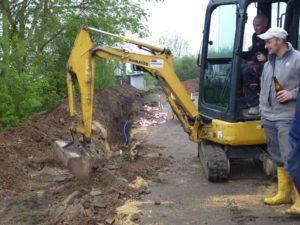Reparatur Wasserleitung 2013